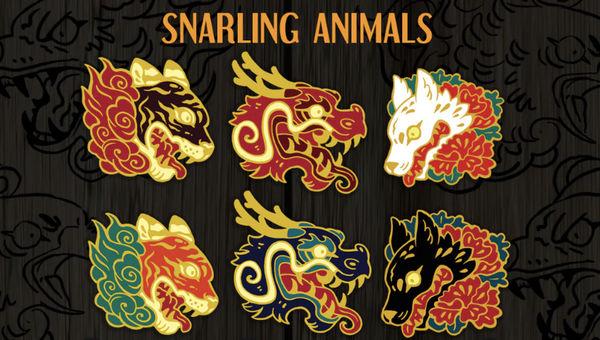 one dat left! Animal Enamel pin Kickstarter
