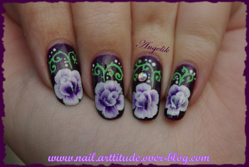 One Stroke Roses Violettes by Angelik23