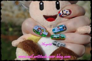 Nail Art Mario by Angelik23