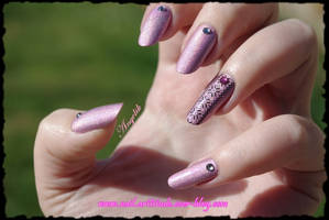Nail Art Pink by Angelik23