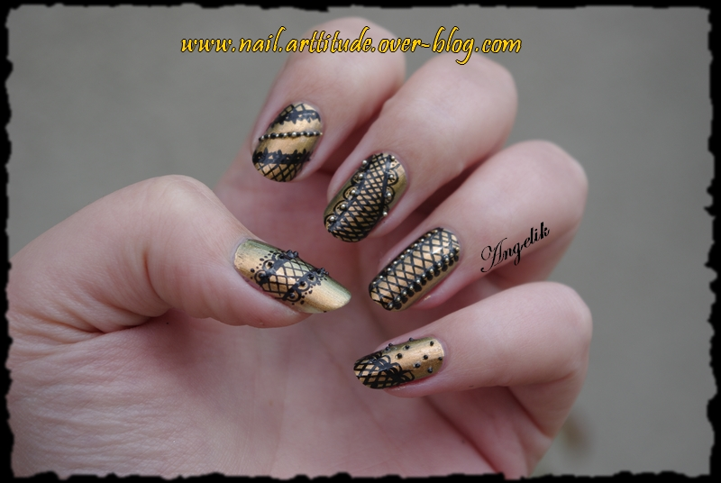 Nail art Rock by Angelik23