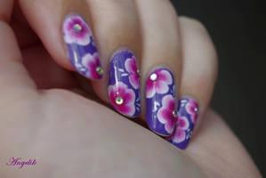 Nail Art Flowers by Angelik23