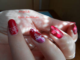Nail art : only one flower by Angelik23
