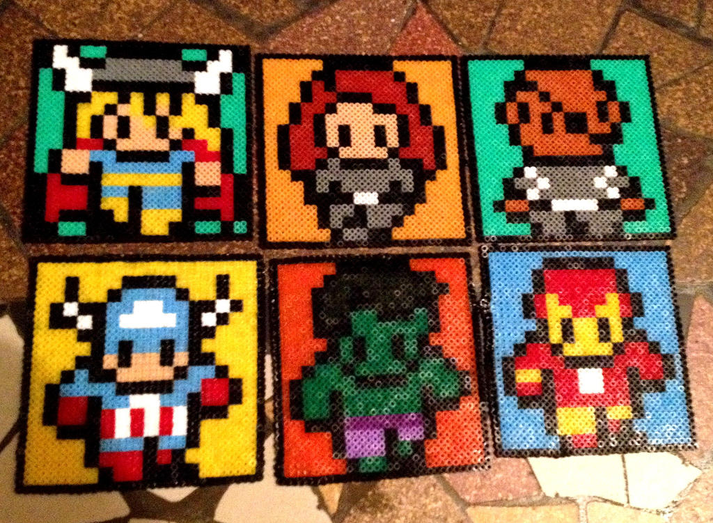 Glass Mount Avengers by Angelik23