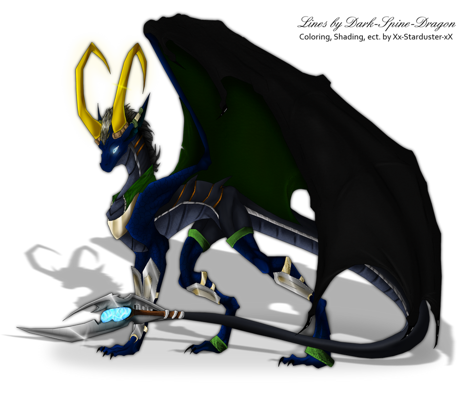 Avengers: Dragon Loki COLORED by Dark-Spine-Dragon