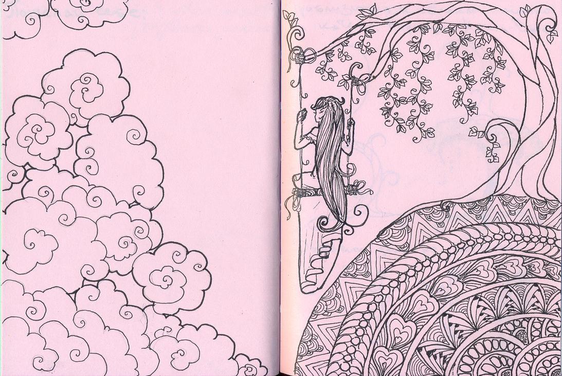 Cloud and swing: dream about fly by Koneko-himeko