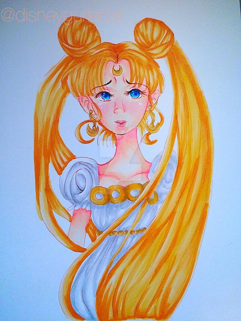 Princess serenity (fan art) by Disneyartistgurl