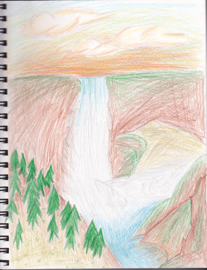 Waterfall Scetch-Traditional by LiverCookie