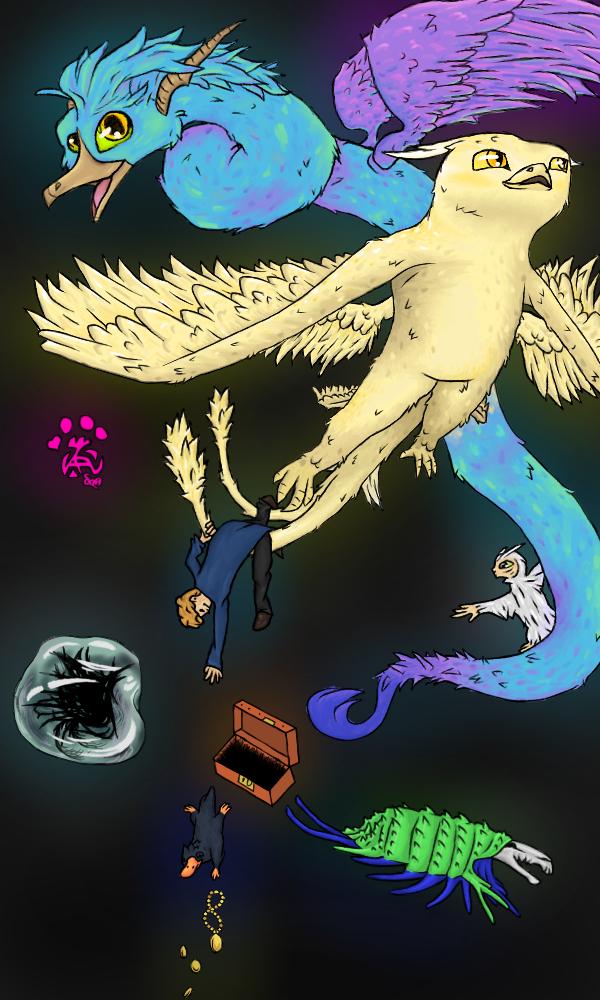 Fantastic Beasts iPhone Wallpaper by LiverCookie