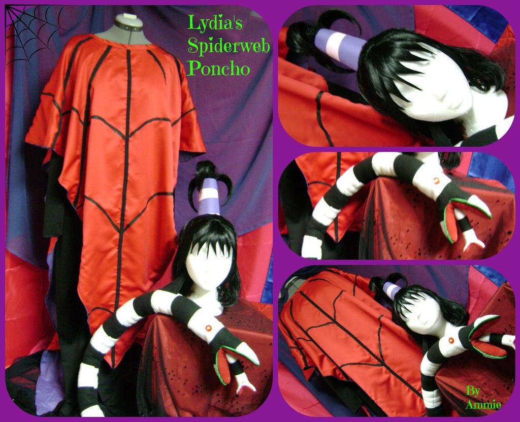 Lydia Deetz Spiderweb poncho by AmmieChan