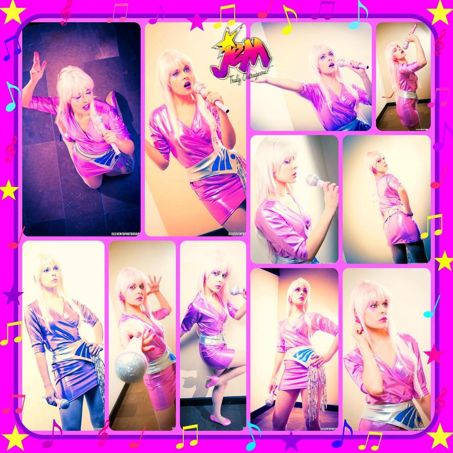 Jem Cosplay Collage By AmmieChan On DeviantArt