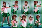 Sailor Jupiter Crystal Cosplay Collage