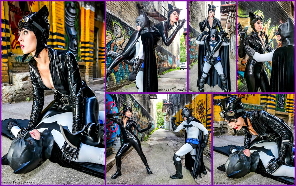 Catwoman and Batman Cosplay Collage by AmmieChan