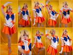 Sailor Venus Crystal Cosplay Collage