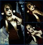 Harley Quinn Dark Knight Makeup Test by AmmieChan