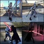 Star Wars Scavenger Rey and Battle Damage Kylo Ren