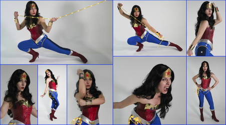 Wonder Woman Cosplay Collage