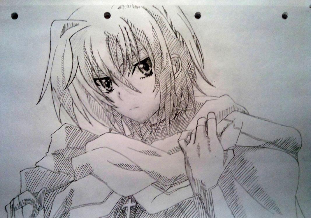Xenovia Sketch (Highschool DxD) By ChanandlerBong777 On DeviantArt