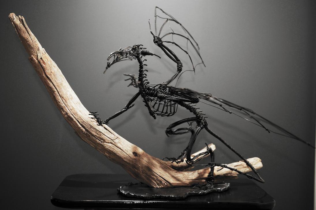 Mounted Dragon Skeleton by mangaFREAK080