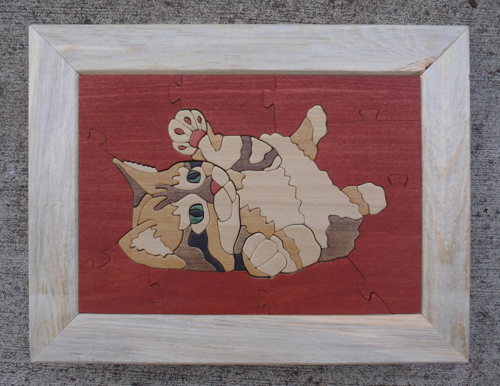 Kitten Wooden Jigsaw Puzzle by MarshallJM