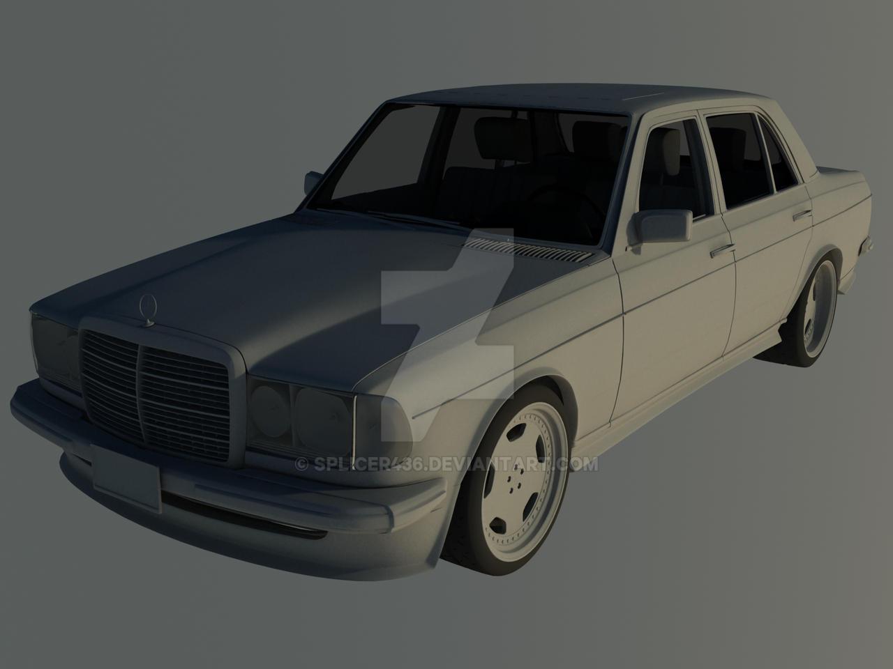 AMG Mercedes W123 Clay Render by Splicer436 on DeviantArt