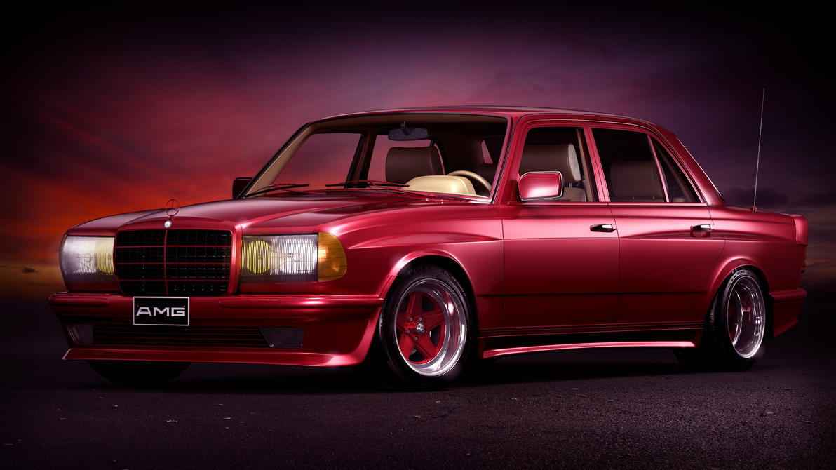 1984 mercedes benz w123 6 0 amg wide body by splicer436 on for Mercedes benz 80s