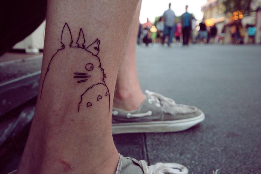 totoro tattoo by babyfaceache on DeviantArt  Totoro