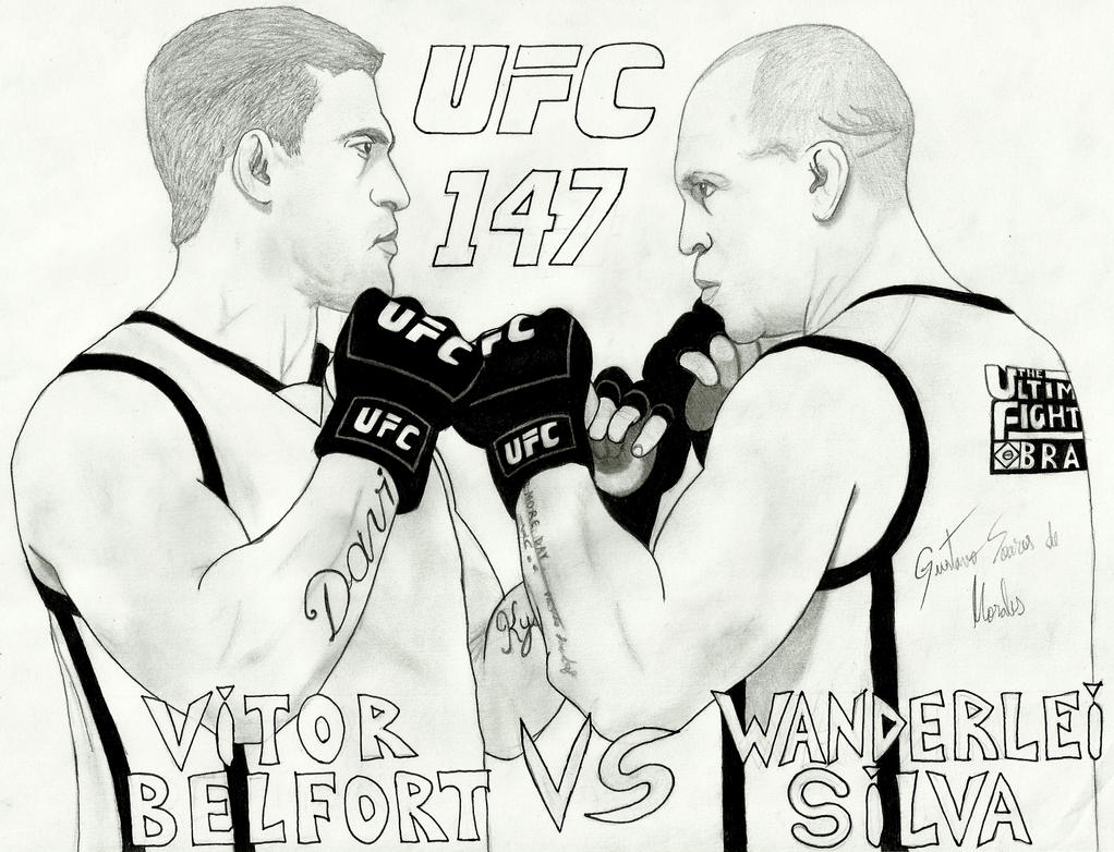 UFC 147 by GustavoMorales Ufc Drawings