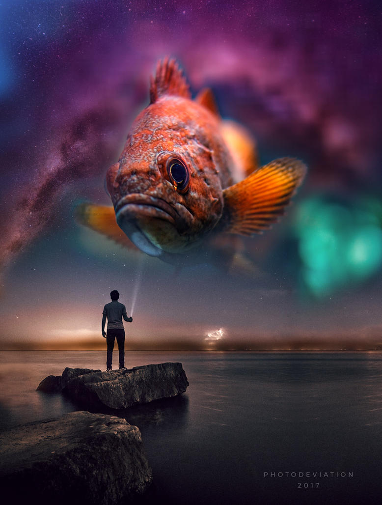 Space Fish. Remix by PhotoDeviation