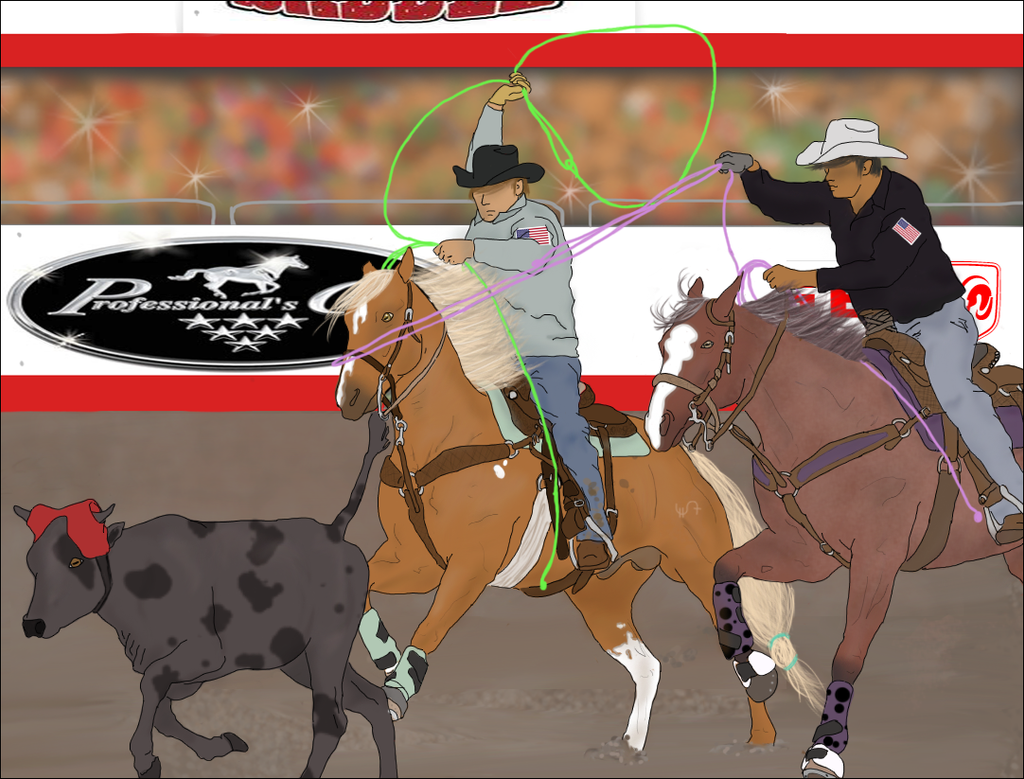 Team roping wallpaper