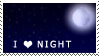 I Love Night Stamp by Ambertail-Kat