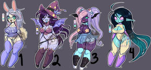 Monster Babe Adopts- OPEN (1 Left!) by Wishful-Krissy