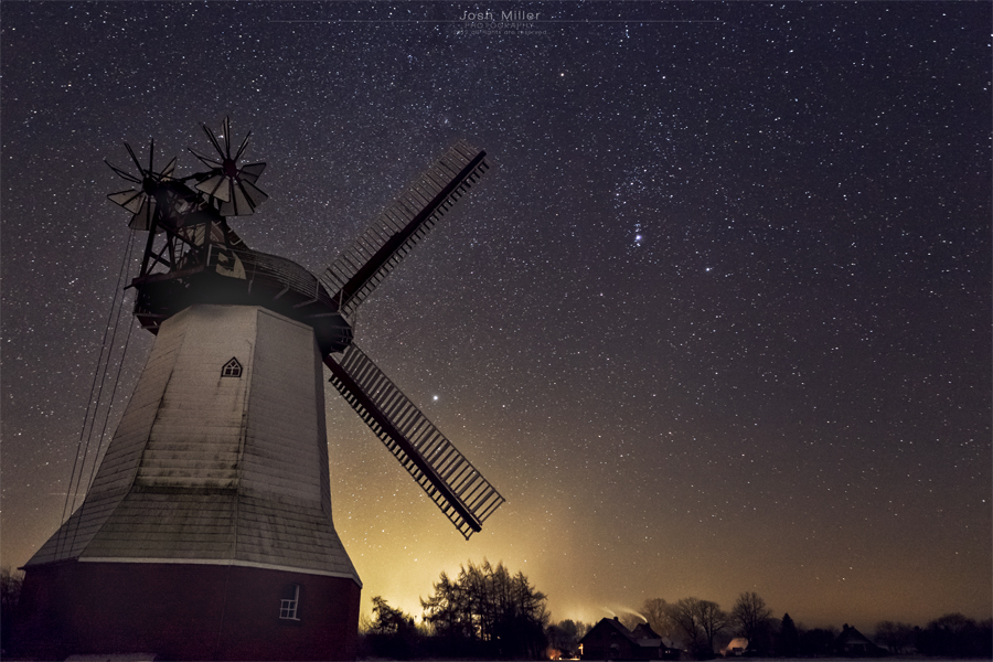 mill @ night by Josh-Miller