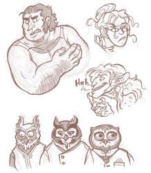 Upwardly Sketches