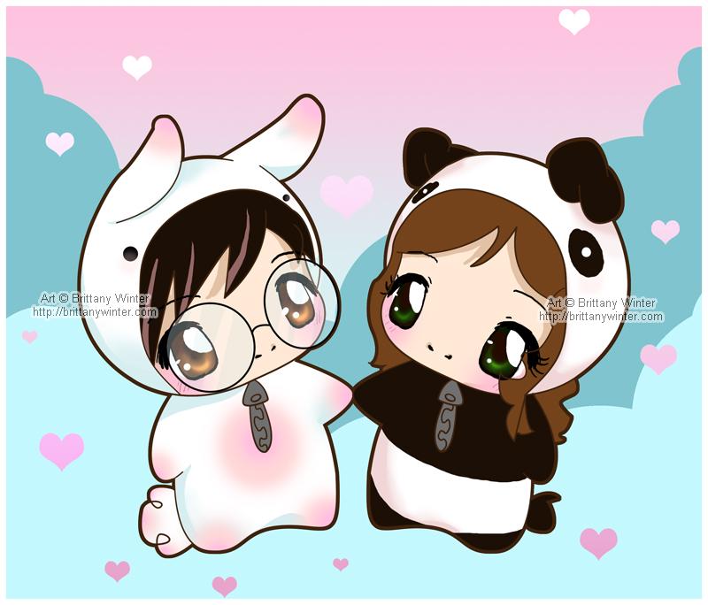 .:Panda Bunny Luv:. by PhantomCarnival