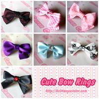 .:Cute Bow Rings:. by PhantomCarnival