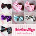 .:Cute Bow Rings:.