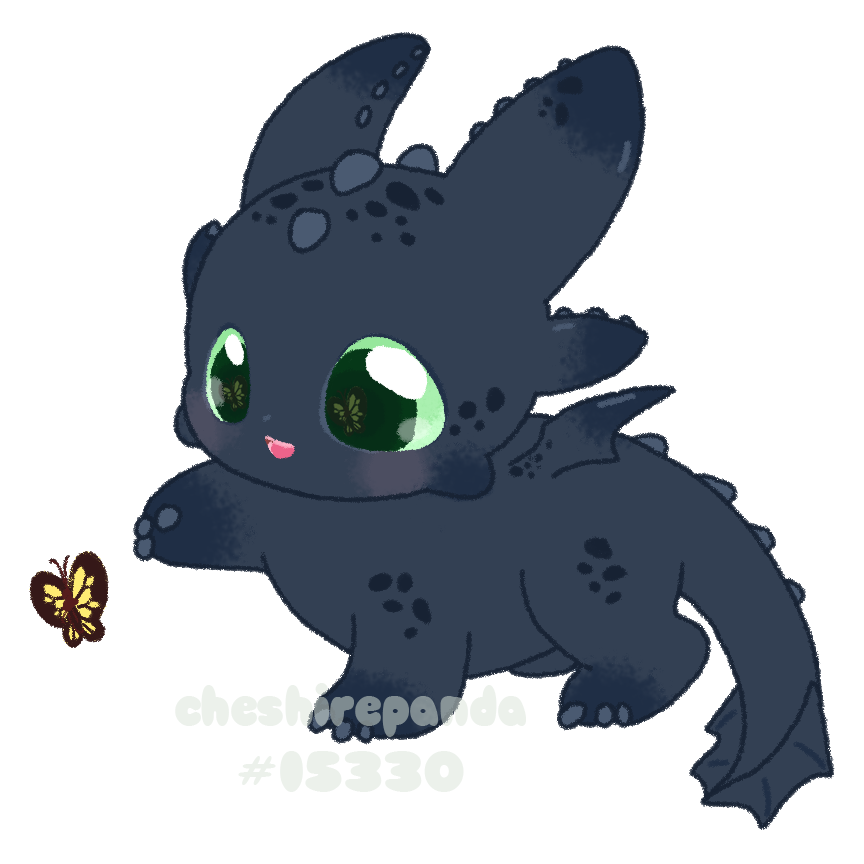 Baby Toothless By PhantomCarnival