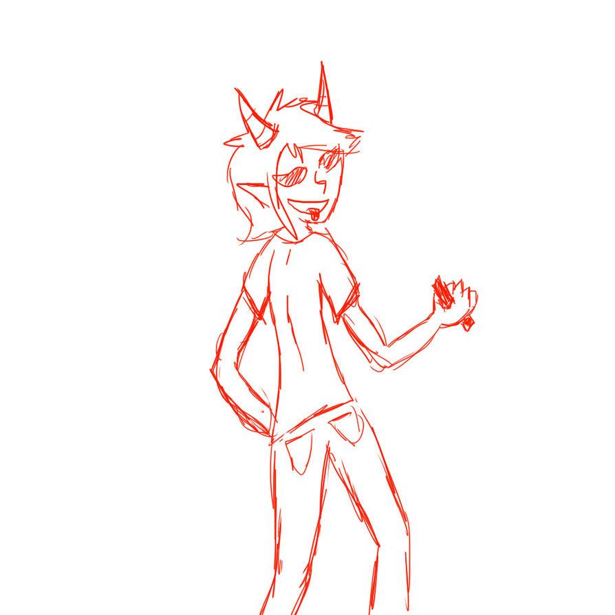 Look, i drew Terezi! by xXZero0Xx