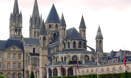Normandy Caen Townhall and Church
