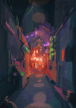 Loomy city