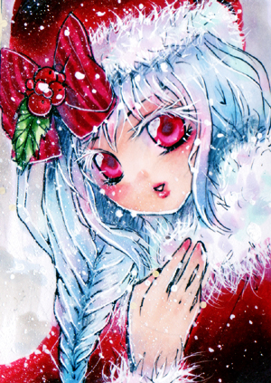 aceo christmas Phinea by MIAOWx3