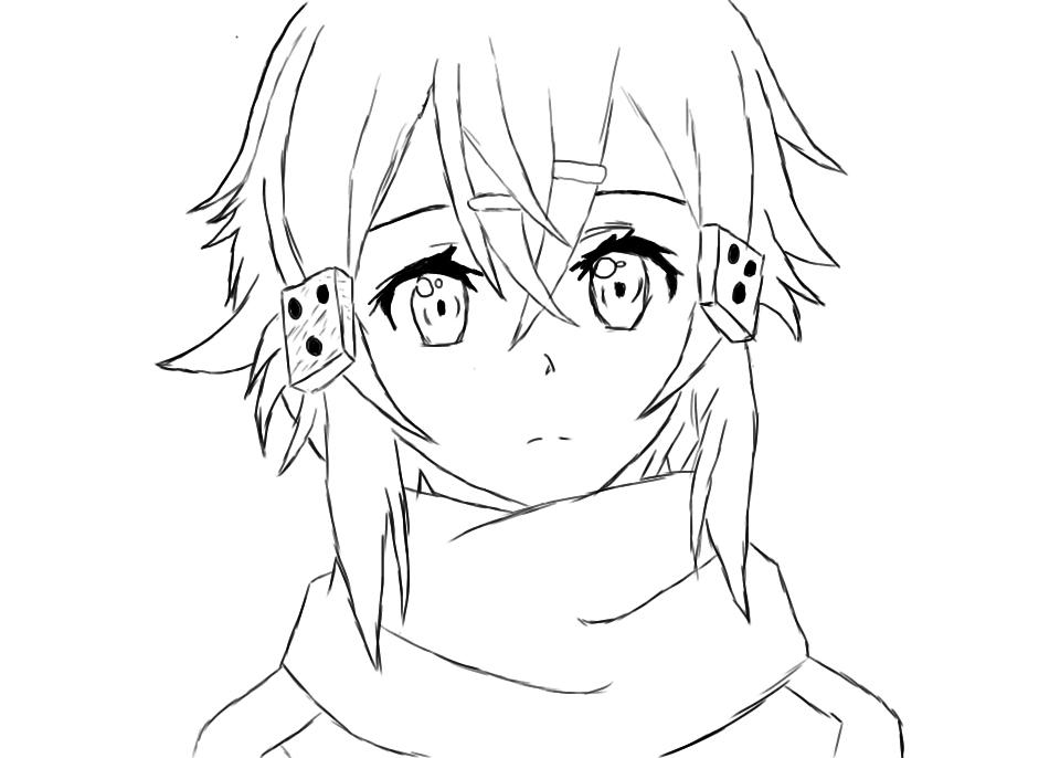 Sword Art Online Sinon Sketch By Saltare On DeviantArt