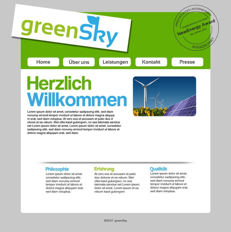 Greensky Webpage Prototype by raphaelniedy