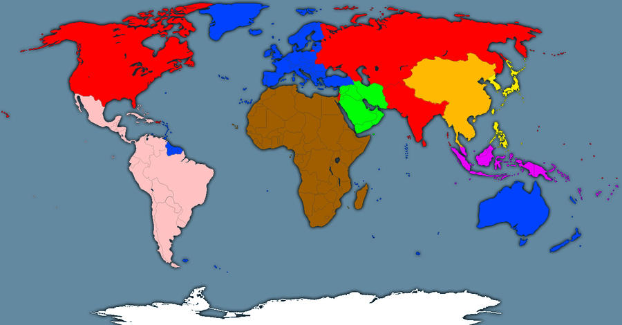 RussoAmerica By GeneralHelghast On DeviantArt - Image of us map at 2040