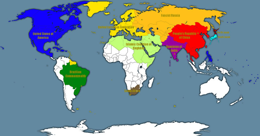 Map Of The World In 2050