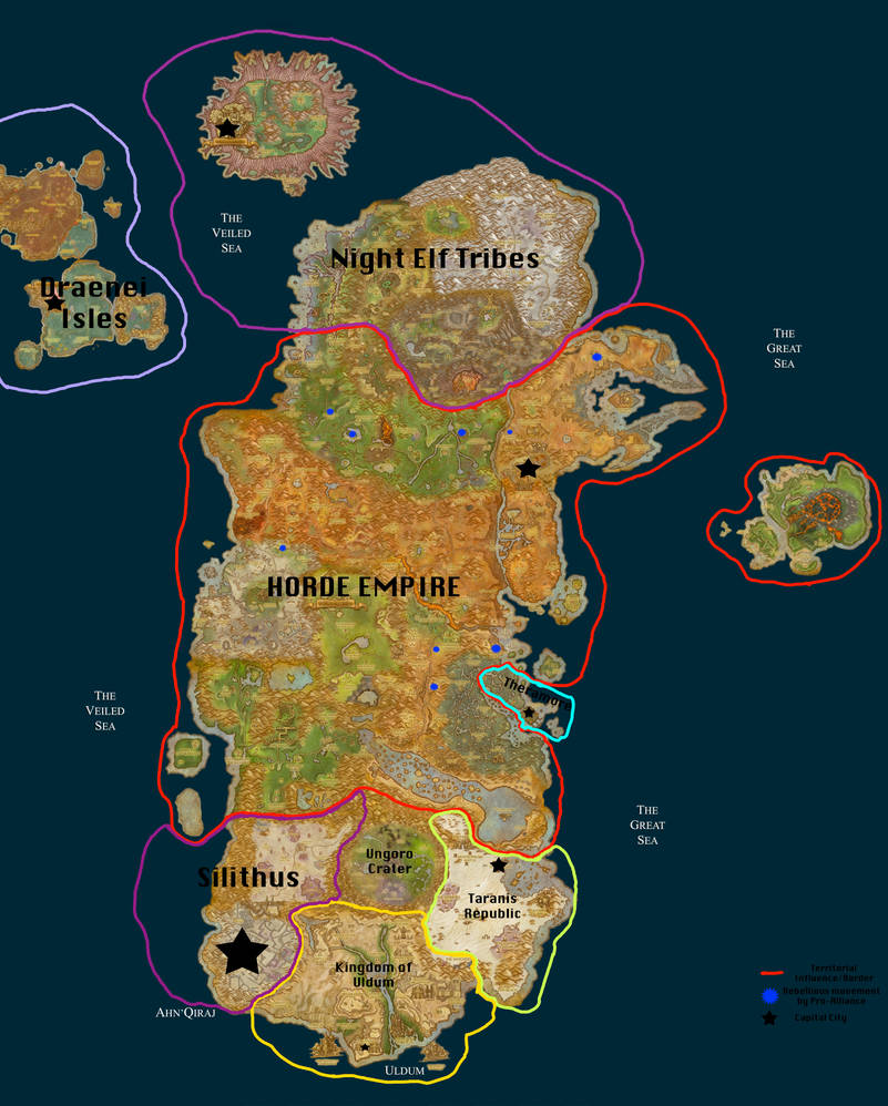 New Political map of Kalimdor by GeneralHelghast on DeviantArt on molten core map, eastern kingdoms map, guild wars 2 gendarran fields map, dragonblight map, stormwind map, undercity map, ashenvale map, azeroth map, netherstorm map, darkshore map, desolace map, dustwallow marsh map, thousand needles map, draenor map, orgrimmar map, lordaeron map, wrath of the lich king map, emerald dream map, wow fossil dig sites map, bloodmyst isle map,