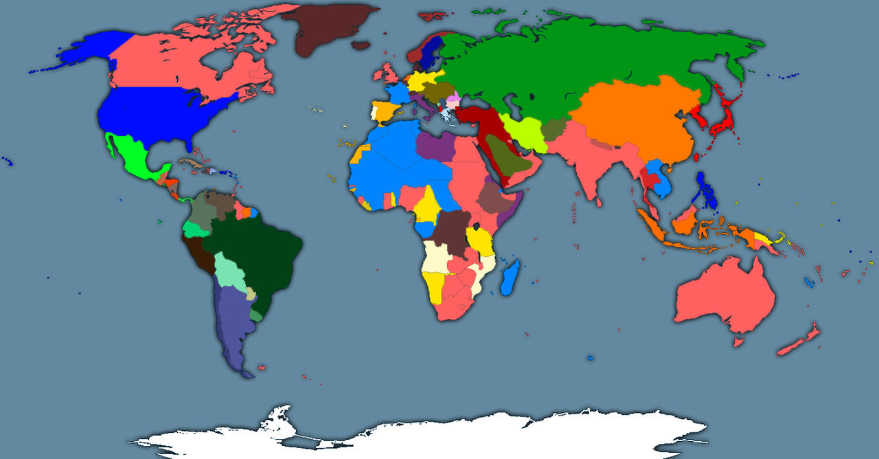 Map Of The World In 1914