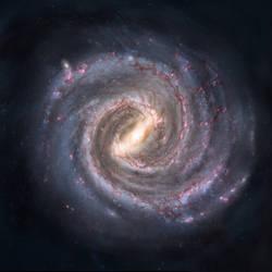 Blank Milky Way map
