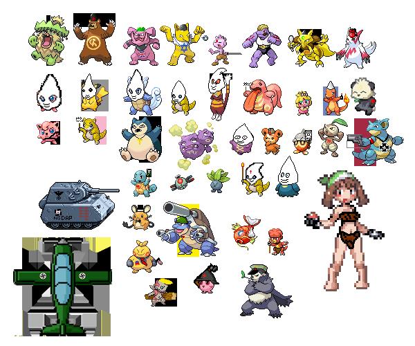 pokemon political sprite collection 1 by generalhelghast